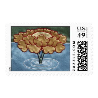 Yellow Lotus in Water Stamps