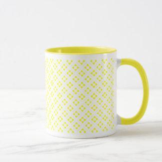 Yellow Lotus Square Mug