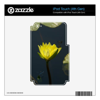 Yellow Lotus Waterlilies iPod Touch 4G Decals