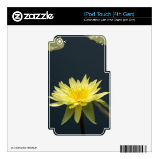 Yellow Lotus Waterlilies Skins For iPod Touch 4G