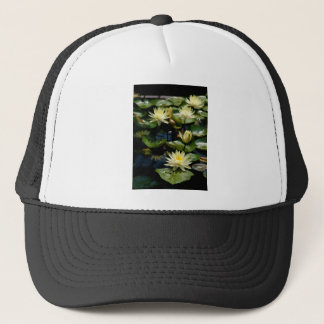 Yellow Lotus Waterlilies Trucker Hat
