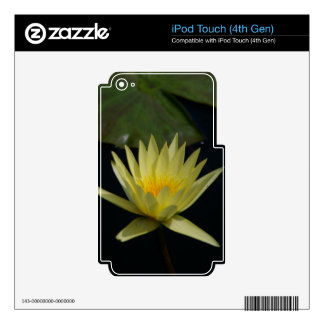 Yellow Lotus Waterlily iPod Touch 4G Decal