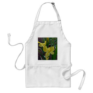 Yellow Louisiana Beardless Iris Adult Apron