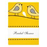 Yellow Love Birds Bridal Shower Invitations