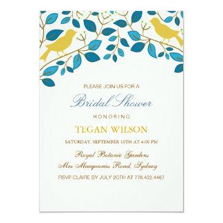 Yellow Love Birds Bridal Shower Invite