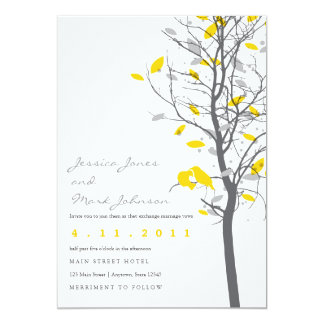 Yellow Love Birds in Tree - 2 sided Card