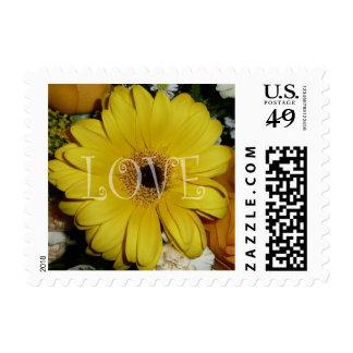 Yellow Love Gerber Daisy Postage