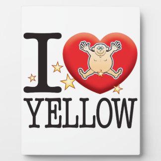 Yellow Love Man Plaque
