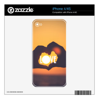 Yellow Love Sunset Sale Skin For The iPhone 4