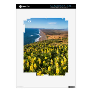 Yellow Lupine Above Point Reyes Beach At Point Decal For iPad 3