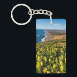 "Yellow Lupine Above Point Reyes Beach At Point Keychain<br><div class=""desc"">Chuck Haney / DanitaDelimont.com USA,  North America,  California</div>"