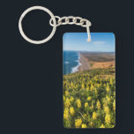 """Yellow Lupine Above Point Reyes Beach At Point Keychain<br><div class=""""desc"""">Chuck Haney / DanitaDelimont.com USA,  North America,  California</div>"""