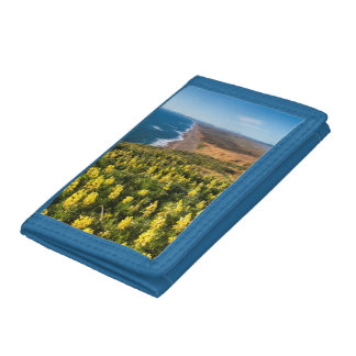 Yellow Lupine Above Point Reyes Beach At Point Tri-fold Wallet