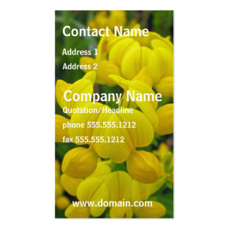 Yellow Lupine Flower Business Card