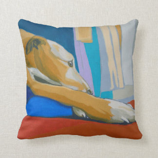 Yellow lurcher cushion