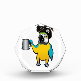 Yellow Macaw Pirate Parrot with a tankard Award