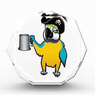 Yellow Macaw Pirate Parrot with a tankard Awards
