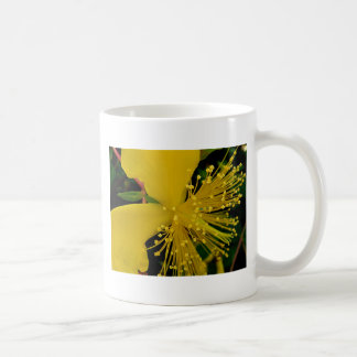 Yellow Macro Flower Abstraction Coffee Mug