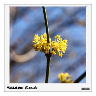yellow macro flower wall decal
