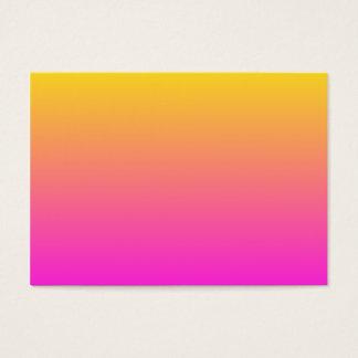 Yellow Magenta Gradient Business Card