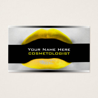 Yellow Make-Up Artist  Business Cards