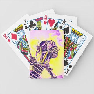 Yellow Man Bicycle Playing Cards