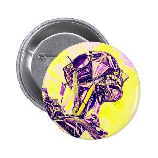 Yellow Man Pinback Button