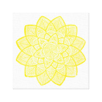 YELLOW MANDALA CANVAS PRINT