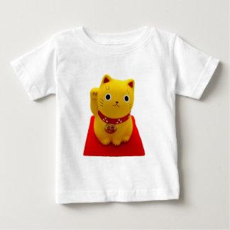 Yellow Maneki Neko on a Red Carpet Baby T-Shirt