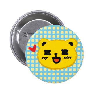 Yellow Manga Bear 2 Inch Round Button