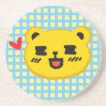 Yellow Manga Bear Coaster