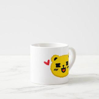Yellow Manga Bear Espresso Cup