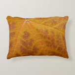 Yellow Maple Leaf Autumn Abstract Nature Decorative Pillow
