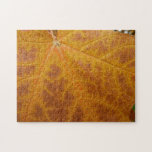 Yellow Maple Leaf Autumn Abstract Nature Jigsaw Puzzle