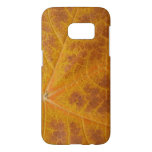Yellow Maple Leaf Autumn Abstract Nature Samsung Galaxy S7 Case