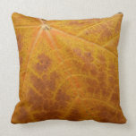 Yellow Maple Leaf Autumn Abstract Nature Throw Pillow