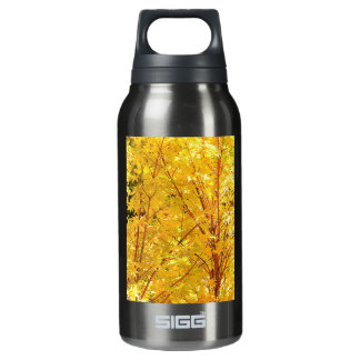 Yellow Maple Leaves Insulated Water Bottle