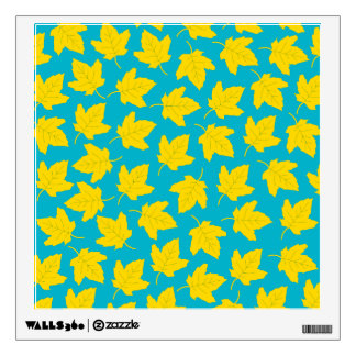 Yellow Maple Leaves Wall Sticker