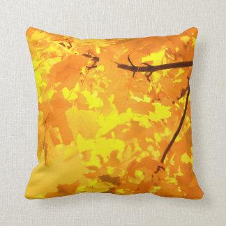 Yellow Maple Throw PIllow