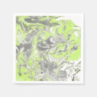Yellow marble texture. Hand drawn artwork Napkin