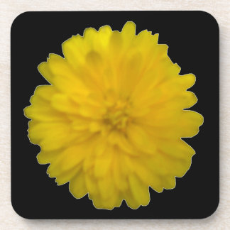 Yellow Marigold Cork Coaster