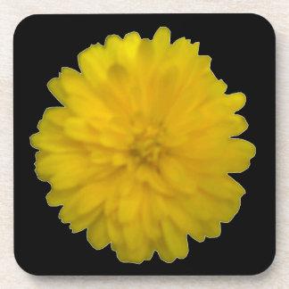 Yellow Marigold Cork Coaster