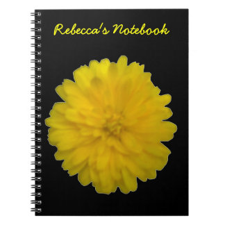 Yellow Marigold Customizable Notebook
