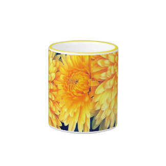 Yellow Marigold Ringer Coffee Mug