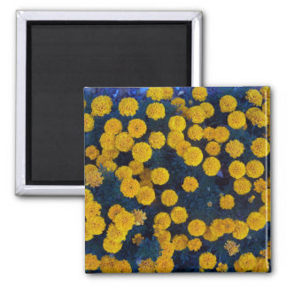 Yellow Marigolds 2 Inch Square Magnet