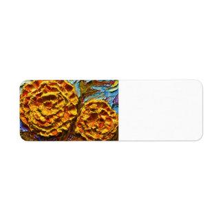 Yellow Marigolds Return address Label