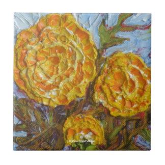 Yellow Marigolds Tiles