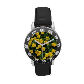 Yellow Marigolds Wristwatch