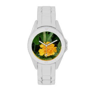 Yellow Marigolds Wrist Watches