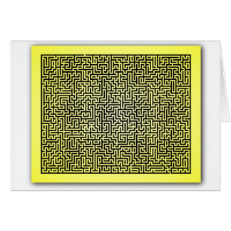 Yellow Maze Card